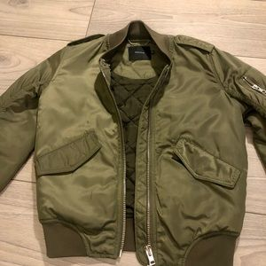 Army green bomber from Aritzia